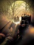 Stagecoach pod atakiem obraz royalty free