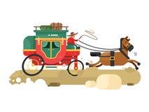 Stagecoach projekta mieszkanie royalty ilustracja