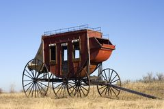 Stagecoach - ready to travel stock image