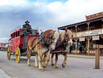 Stagecoach stacza si? puszek g??wna ulica nagrobek obrazy stock