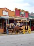 Stagecoach stacza si? puszek g??wna ulica nagrobek obraz stock