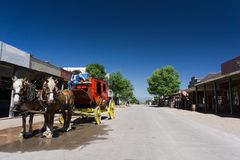Stagecoach. A stagecoach in Tombstone, Arizona Royalty Free Stock Photo
