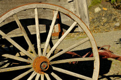 Stagecoach Wheel. At Outdoor Museum located in Sunny Valley, Oregon Stock Photo