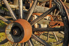 Stagecoach Wheel 2. Stagecoach Wheel at Outdoor Museum located in Sunny Valley, Oregon Royalty Free Stock Photography