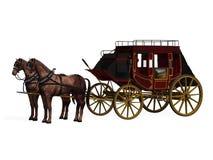 Stagecoach z koniami ilustracji