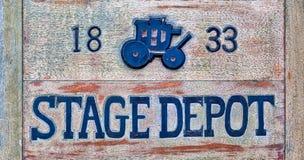 Stagecoach znak zdjęcie stock