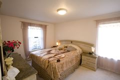 Staged bedroom. In a condominium Royalty Free Stock Photos