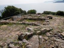 Stageira古城 库存图片