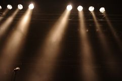 stagelights Royaltyfria Bilder