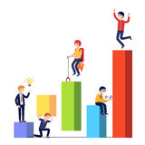 Stages of business development and growth stock illustration