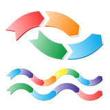 Stages of chart in arrows Royalty Free Stock Image
