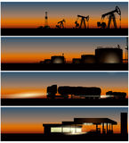 Stages of Fuel production Royalty Free Stock Images