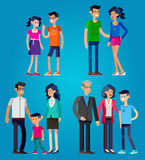 Stages of life young couple Royalty Free Stock Photography