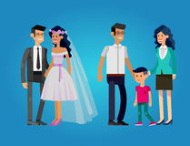 Stages of life young couple Royalty Free Stock Photo