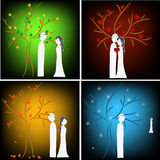 Stages of love Stock Photos