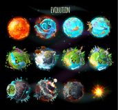 Evolution of Earth, vector concept illustration royalty free illustration