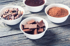 Stages preparation of chocolate Stock Photography