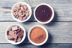 Stages preparation of chocolate Royalty Free Stock Photography