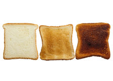 Stages Of Toast Royalty Free Stock Photography