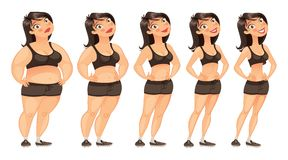 Stages of weight loss Stock Photography