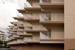 Staggered balconies Royalty Free Stock Images