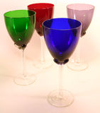 Staggered Goblets stock photo