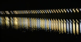 Staggered Lights On River Royalty Free Stock Photography