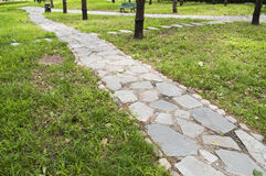Staggered stone path Royalty Free Stock Images