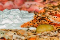 Staggione dichte omhooggaand van pizzaquatro Stock Afbeeldingen