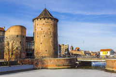 Stagiewna Gate on the Island of Granaries in Gdansk, Poland Royalty Free Stock Photo