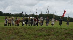 Medieval ancestors of modern light infantry Royalty Free Stock Photography