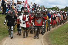Polish knights are boldly going to the battlefield Stock Images