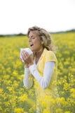 Stagione di allergia Fotografie Stock Libere da Diritti