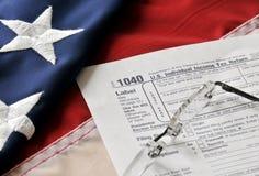Stagione di imposta - scadenze del 15 aprile Fotografie Stock Libere da Diritti