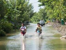 Stagione di monsone in Ayuttaya, Tailandia 2011 Fotografia Stock Libera da Diritti
