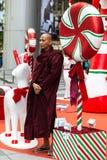 Stagione di Natale in strada del frutteto di Singapore Fotografie Stock