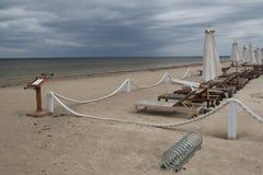 Stagione difficile sulla costa baltica Fotografia Stock Libera da Diritti