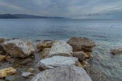 Stagione invernale in mar Mediterraneo immagine stock