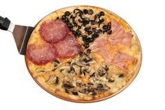 stagioni de quattro de pizza Photos libres de droits