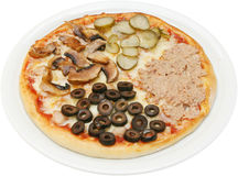 Stagioni van pizzaquattro Royalty-vrije Stock Afbeeldingen