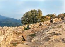 Stagira-Ansicht - alte Stadt Griechenlands Stockbild