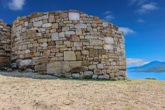 Stagira Antyczny miasto, urodzony miasteczko sławny Grecki filozof Aristotle Zdjęcia Stock