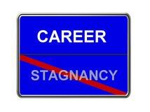 Stagnancy da carreira não ilustração royalty free