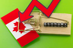 The stagnation of the Canadian Royalty Free Stock Photos