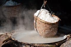 Stagni del salgemma, Nan, Tailandia Fotografia Stock