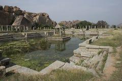 Stagni della roccia Hampi, India Fotografia Stock Libera da Diritti