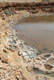 Stagni di evaporazione del sale Immagine Stock
