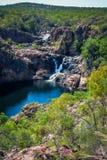 Stagni e viewe delle cascate all'allerta di Benang, Edith Falls Fotografie Stock