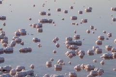 Stagni salini di evaporazione Fotografia Stock