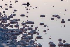 Stagni salini di evaporazione Fotografie Stock